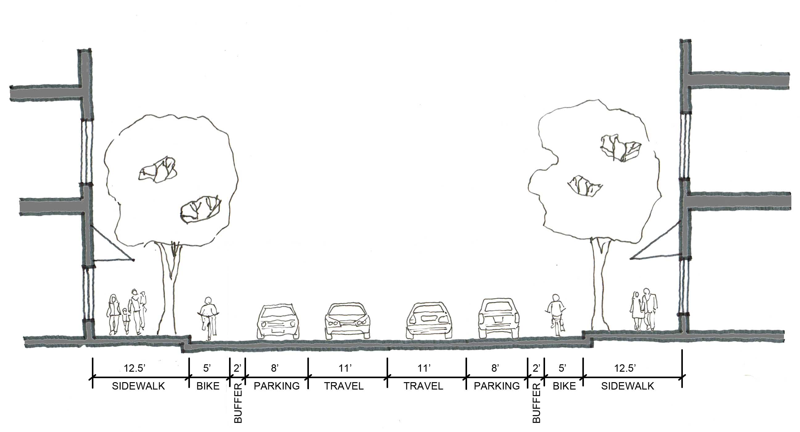 proposed main street section