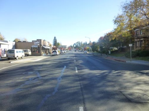 Looking South on Main Street - How fast would you want to drive here?