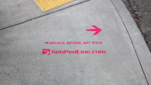 Florence Avenue Art Walk Sidewalk Stencil