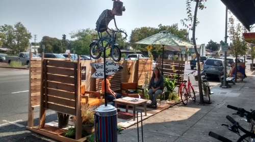 Sebastopol PARK(ing) Day at West County Cycle Services