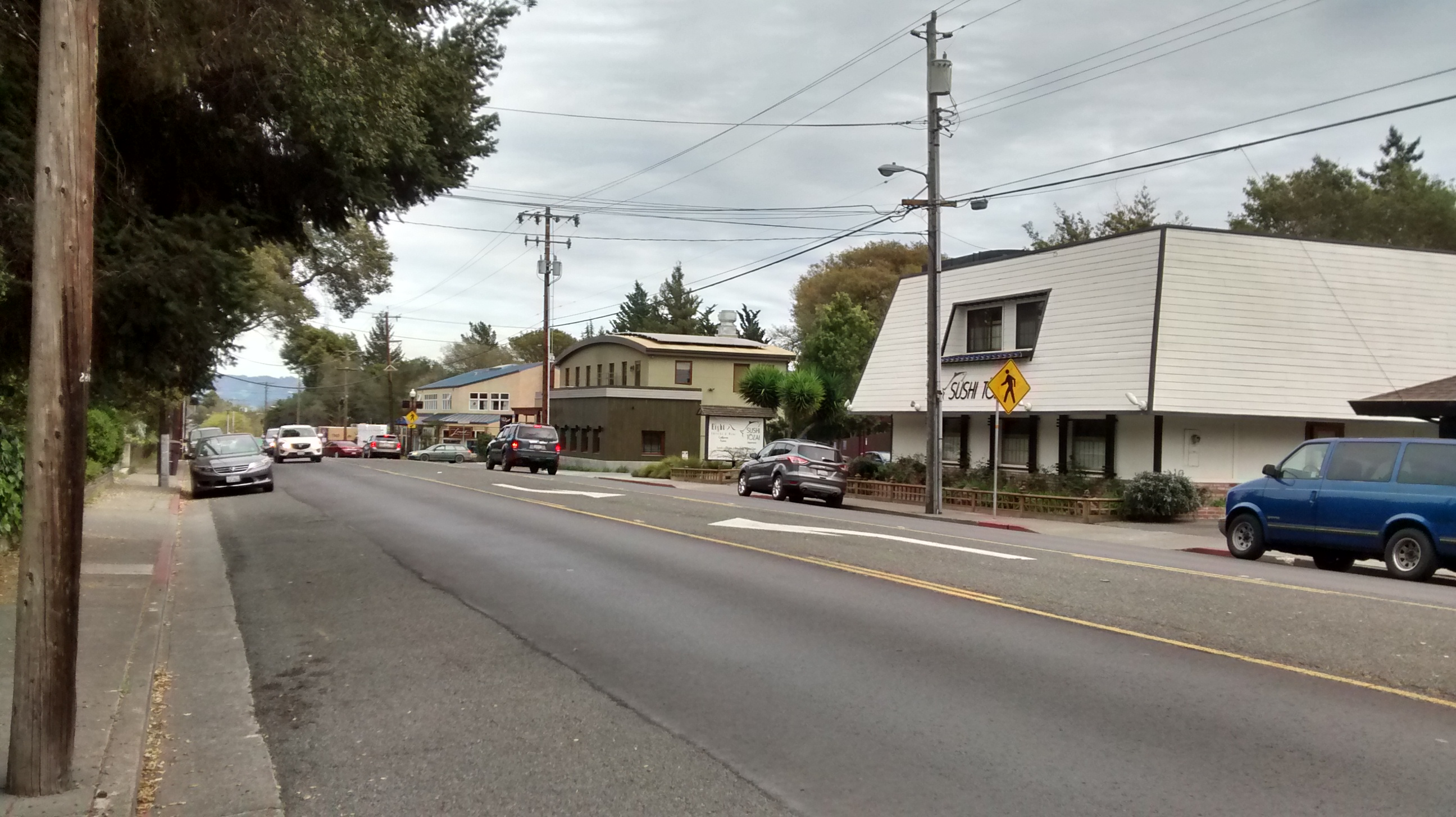 A couple new projects and a renovation are creating a restaurant/commercial hub on Healdsburg Ave. about a block away from the strip development above.