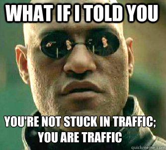 morpheus traffic meme