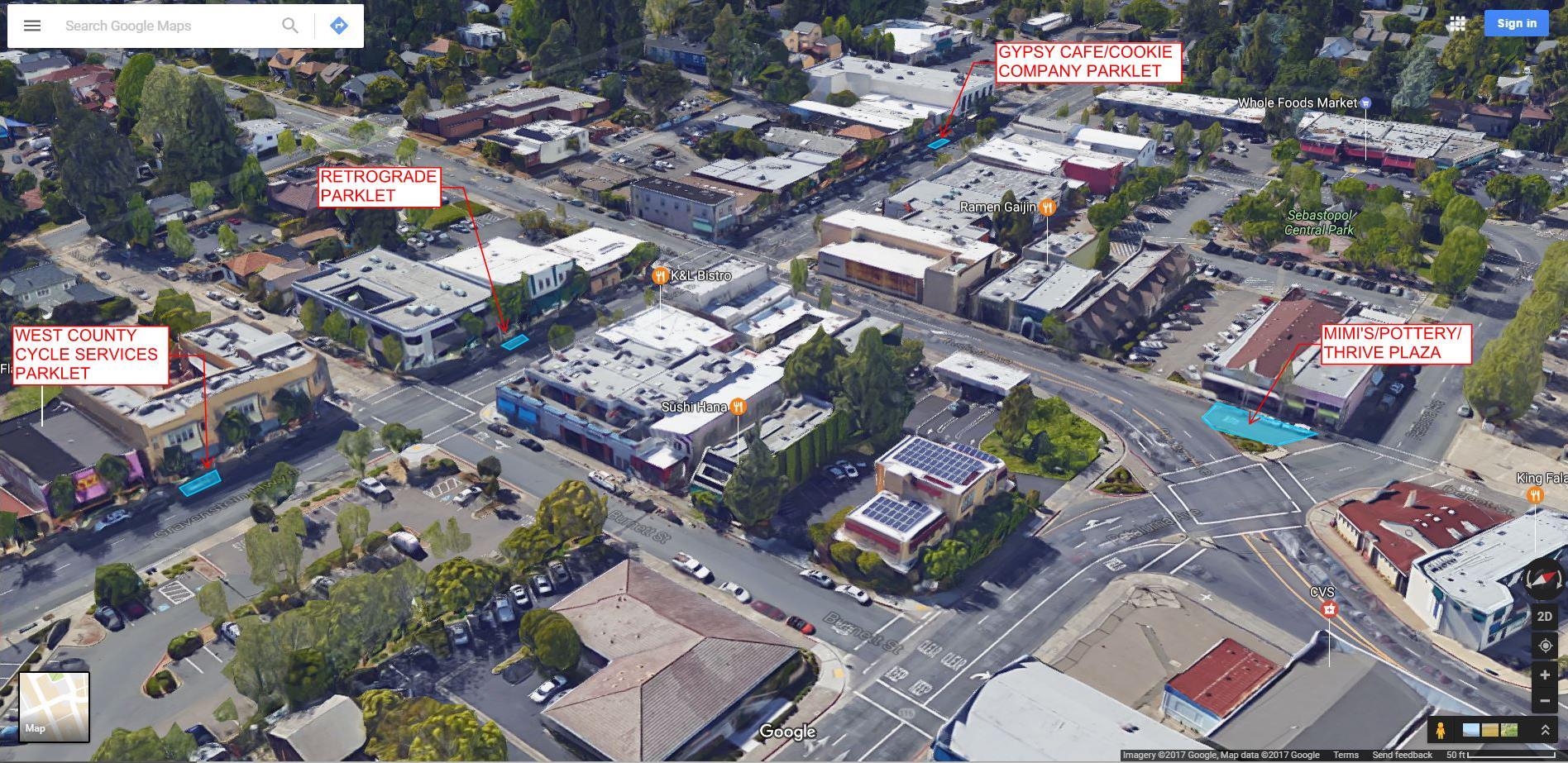 downtown parklets